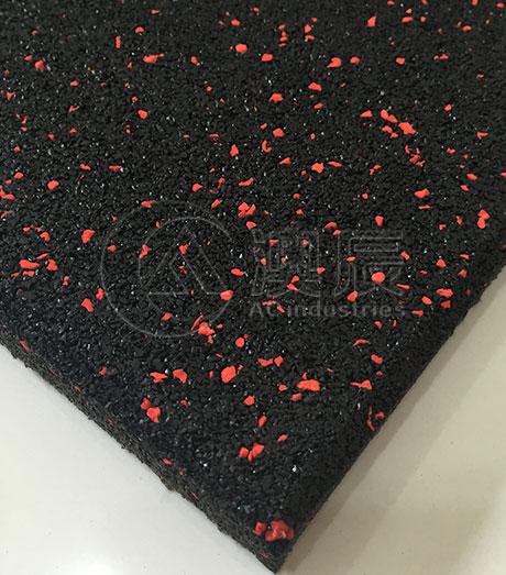 Epdm Speckles Rubber Floor Tile For Gym Square