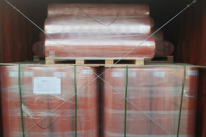 The rubber sheet and PVC roll will be shipped to the UAE