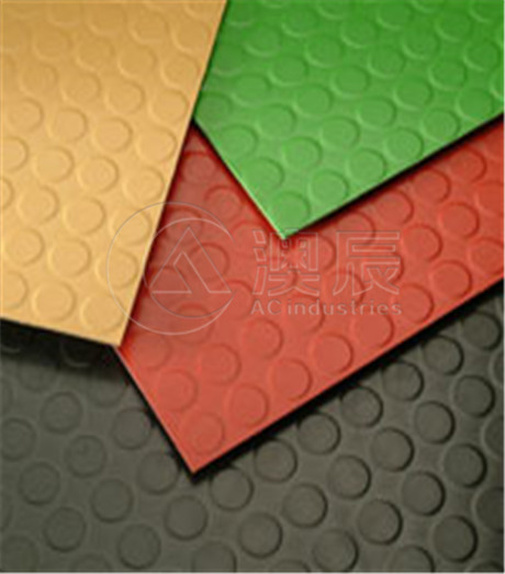 1815 Round Dot Rubber Tile Floor