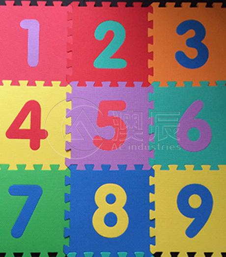 ACE12003-1 Children Mat-Number&Letter