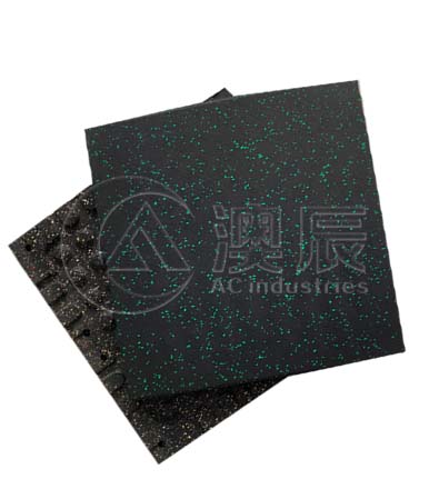1410 Speckled Gym Rubber Tile