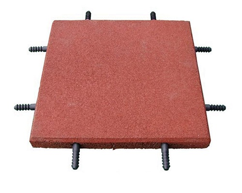 round dot rubber tile