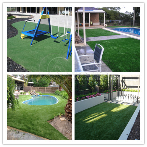 Customer using our artificial grass in their backyard