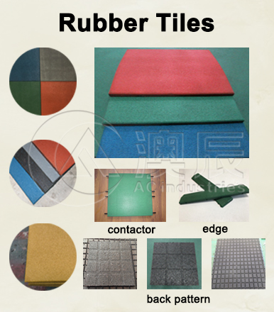 RUBBER TILE installation from AOCHEN