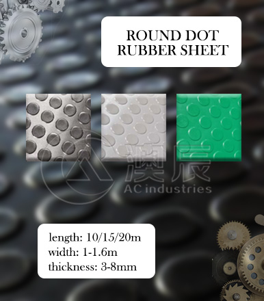Round Dot (coin) Rubber Sheets