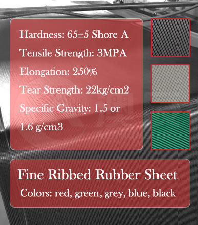 Anti-slip Rubber Sheet--Fine Ribbed